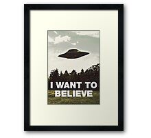 I Still Want to Believe Framed Print
