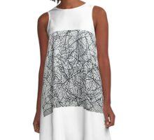 "the Artist Adamo ""RAW sharpie Conceptual Doodle"" A-Line Dress"