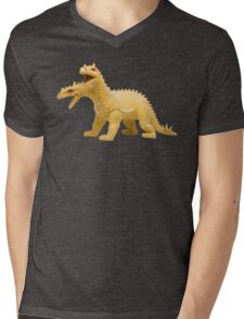 2-headed Vintage 80s Dragon Mens V-Neck T-Shirt
