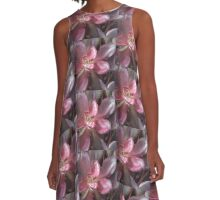 Succulent lovers gifts dark red A-Line Dress