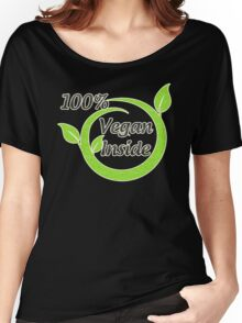 100% Vegan Inside Women's Relaxed Fit T-Shirt