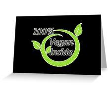100% Vegan Inside Greeting Card