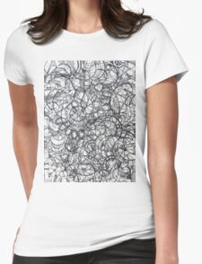"""The Artist Adamo """"RAW Sharpie Conceptual Quilting"""" Womens Fitted T-Shirt"""