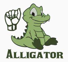 A is for Alligator - ASL Kids Tee