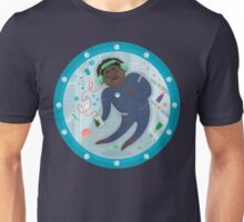 Astronaut listening music Unisex T-Shirt