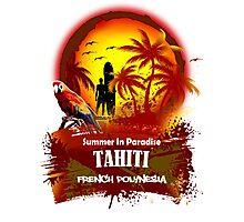Summer In Paradies..Tahiti Photographic Print