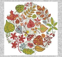 Circle composition with Autumn leaves,branches,berries Kids Clothes