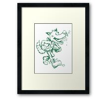 GOIN NUTS Framed Print