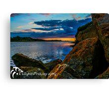 Sunset in Ballyshannon LS Canvas Print