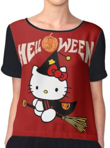 Kitty_Helloween Chiffon Top
