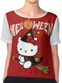 Kitty_Helloween Chiffon Top
