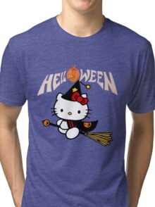 Kitty_Helloween Tri-blend T-Shirt