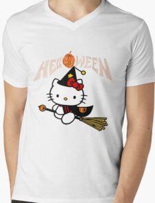 Kitty_Helloween Mens V-Neck T-Shirt