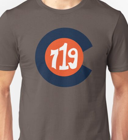 Hand Drawn Colorado Flag 719 Area Code Broncos Unisex T-Shirt