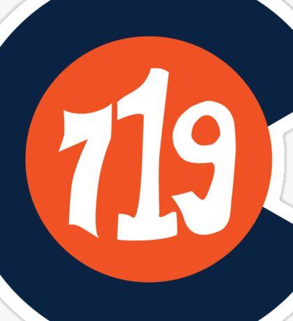 Hand Drawn Colorado Flag 719 Area Code Broncos Sticker