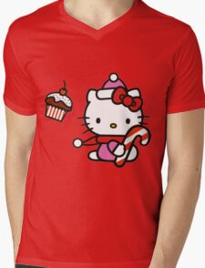 Kitty_Helloween Mens V-Neck T-Shirt
