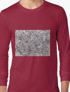 "The Artist Adamo ""RAW Coceptual Sharpie french curve 2014"" Long Sleeve T-Shirt"