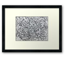 "The Artist Adamo ""RAW Coceptual Sharpie french curve 2014"" Framed Print"