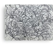 "The Artist Adamo ""RAW Coceptual Sharpie french curve 2014"" Canvas Print"