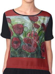 Roses In Bloom Chiffon Top