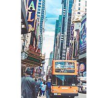BUS TOURS Photographic Print