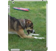 Dog with favorite toy iPad Case/Skin
