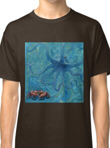 """""""Sea Food!"""", Whimsical Octopus Painting Classic T-Shirt"""