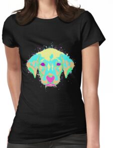 Labrador Puppy Pastel Splatter Womens Fitted T-Shirt