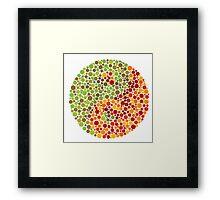 Color Blind Yin Yang Sign Framed Print