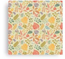 Decorative Autumn leaves seamless pattern  Canvas Print