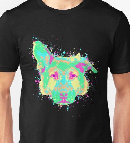 German Shepherd Pastel Splatter Unisex T-Shirt