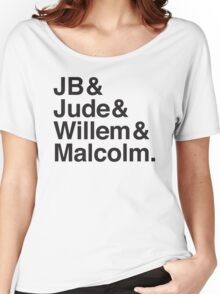 JB & Jude & Willem & Malcolm  Women's Relaxed Fit T-Shirt