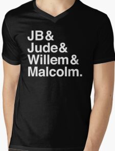 JB & Jude & Willem & Malcolm (in white) Mens V-Neck T-Shirt