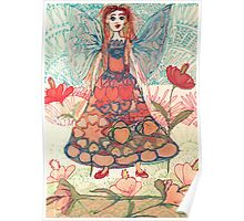 Florals Fantasy and Flower Fairy  Poster