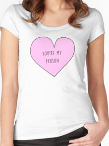 YOU'RE MY PERSON - GREY'S ANATOMY Women's Fitted Scoop T-Shirt