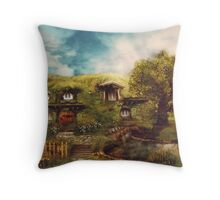 The Shire, My Dream Hobbit House Throw Pillow