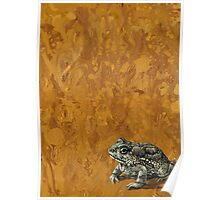 """""""Toadally"""", marbled surreal toad painting Poster"""