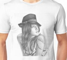 The hat girl Unisex T-Shirt