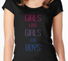 Girls Love Girls and Boys Women's Fitted Scoop T-Shirt