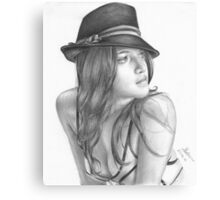 The hat girl Canvas Print