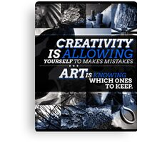 Creativity vs. Art Typography/Photography Piece Canvas Print