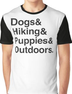 dogs & hiking & puppies and coffee Graphic T-Shirt