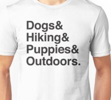 dogs & hiking & puppies and coffee Unisex T-Shirt