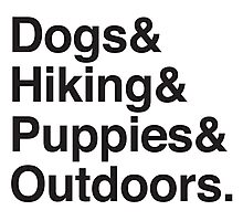 dogs & hiking & puppies and coffee Photographic Print
