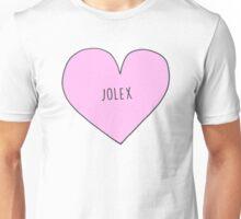JO AND ALEX (JOLEX) CANDY HEART Unisex T-Shirt