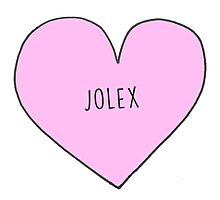 JO AND ALEX (JOLEX) CANDY HEART Photographic Print