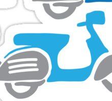Vespa moped bike race Sticker