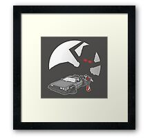 Flight of the Delorean Framed Print