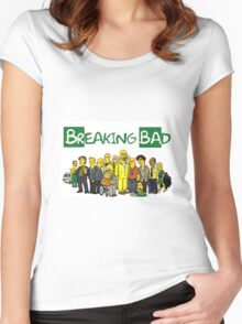 The Simpsons ( Breaking bad) Women's Fitted Scoop T-Shirt