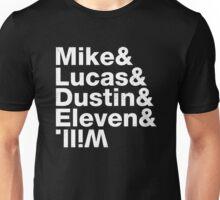 STRANGER THINGS mike lucas dustin eleven will Unisex T-Shirt